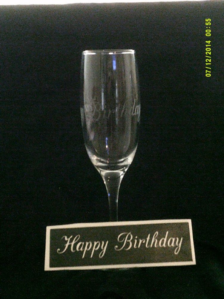 Happy Birthday Words Stencils For Etching On Glass
